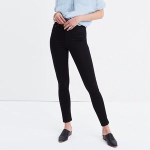 "Madewell • 10"" High Rise Skinny Black Carbondale"